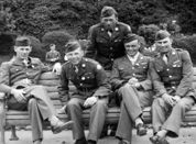 Soldiers on bench